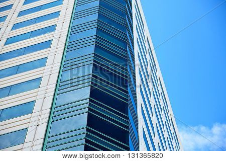 Office building on sky background. Los Angeles California
