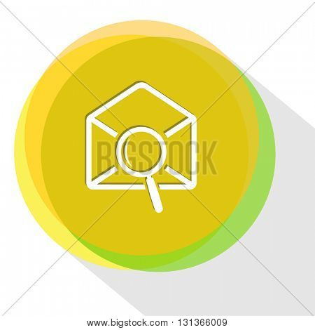 mail find. Internet template. Vector icon.