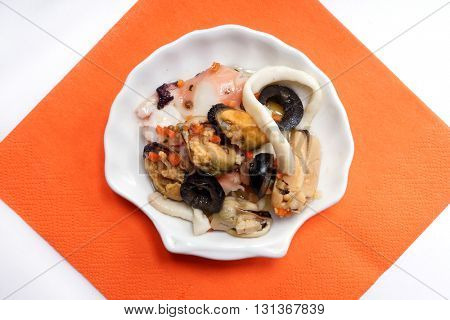 Seafood Salad with Mussels and Squid