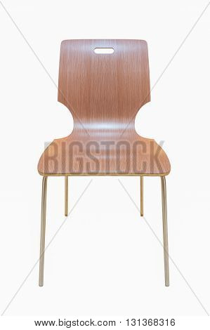 plywood chair isoalted on white background with clipping path