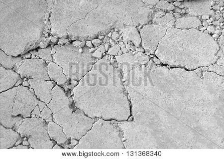 cracked concrete abstract background with rough surface