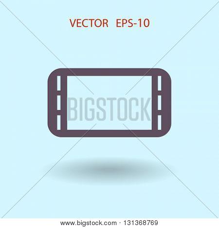 Flat icon of gamepad