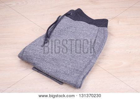 The gray sweatpants on a white background
