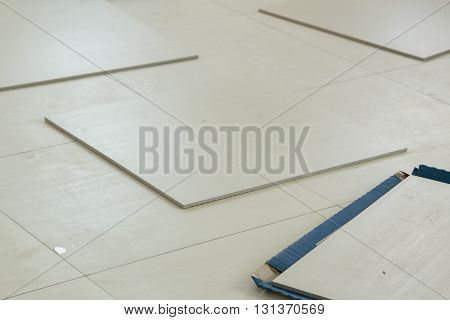 Tiles Floor, Prepare For Working Tiles