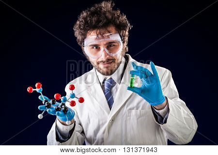 Young Chemist Showing Things