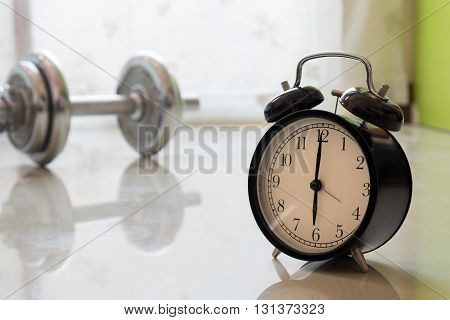 Best Time To Workout Concept