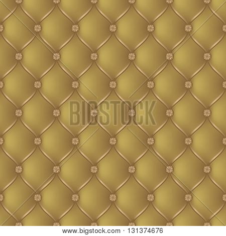 Vector abstract upholstery gold background. Can be used in cover design book design website background CD cover advertising.