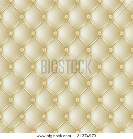 Vector abstract upholstery gold background. Can be used in cover design book design website background CD cover advertising