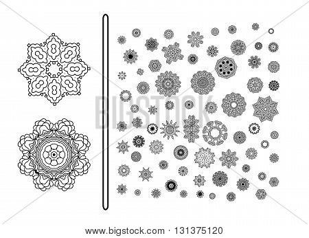 Vintage decorative elements.Circular pattern of traditional motifs and ancient oriental ornaments. Hand drawn background.