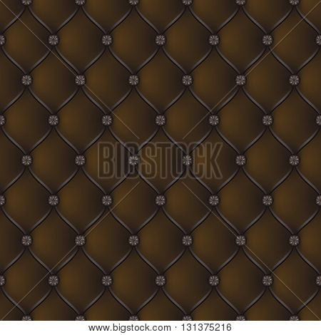 Vector abstract upholstery brown background. Can be used in cover design book design website background CD cover advertising.