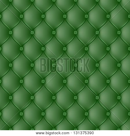 Vector abstract upholstery dark green background. Can be used in cover design book design website background CD cover advertising.