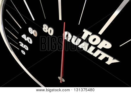 Top Quality Best Reputation Reliability Speedometer 3d Illustration