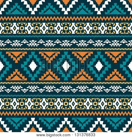 The Classic Geometric Pattern. Ethnic And Tribal Motifs. Color Vector Illustration. Print For Textil