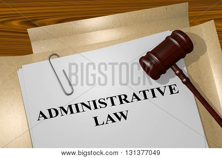 Administrative Law Legal Concept