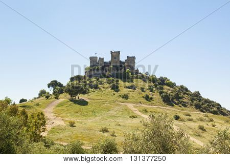The medieval fortress on the hill at Almodovar del Rio, Cordoba province, Spain
