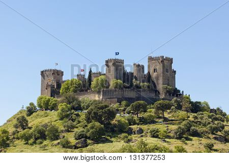 The medieval fortress at Almodovar de Rio, Cordoba province, Spain