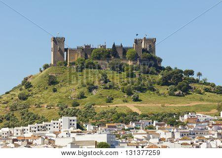 The medieval castle above the village of Almodovar del Rio, Cordoba province, Spain