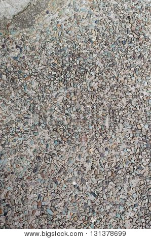 pebble stones floor for background and texture
