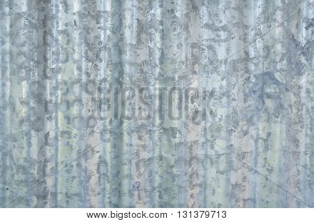 close up zinc wall texture for background