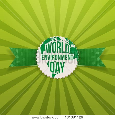 World Environment Day Earth Banner Template. Vector Illustration