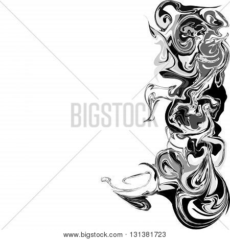 Abstract ink background, marble style pattern. Abstract ink, acrylic decoration. Vector ink texture. Watercolor marbling illustration.