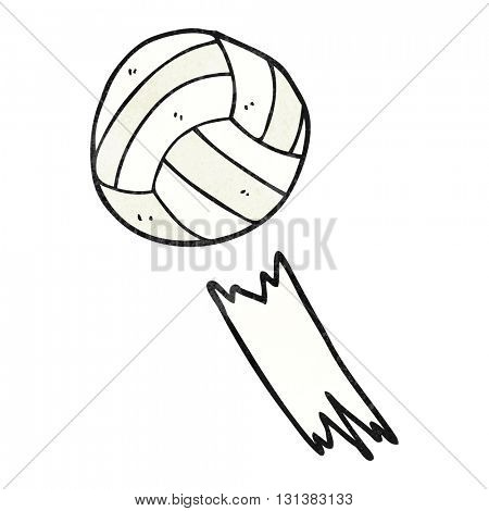 freehand textured cartoon soccer ball