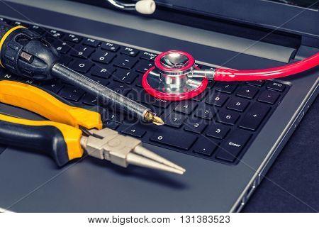 Laptop Service Concept