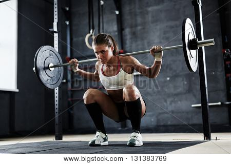 Lifting weight in gym