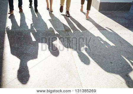 Legs of business team
