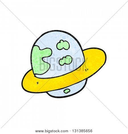freehand textured cartoon planet
