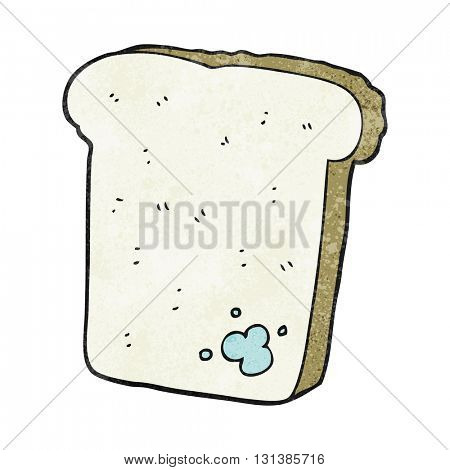 freehand textured cartoon mouldy bread