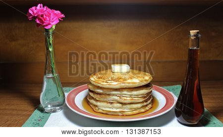 Full Stack of Fluffy Buttermilk Flap Jacks