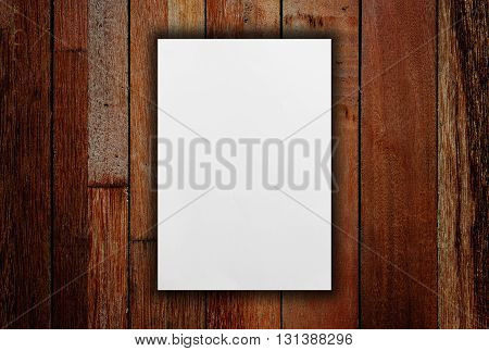 Blank white paper catalog, Magazines book paper white mock up on wooden background