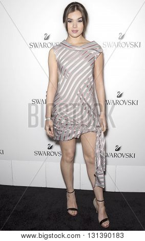 New York City USA - May 24 2016: Actress Hailee Steinfeld attends Swarovski #bebrilliant event at The Weather Room - Rockefeller Center