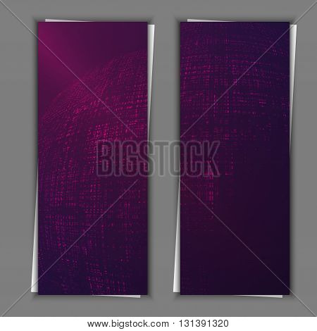 Graphic illustration. Set of banner templates with abstract background.