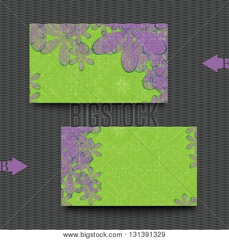 Graphic illustration. Business card template with abstract background.