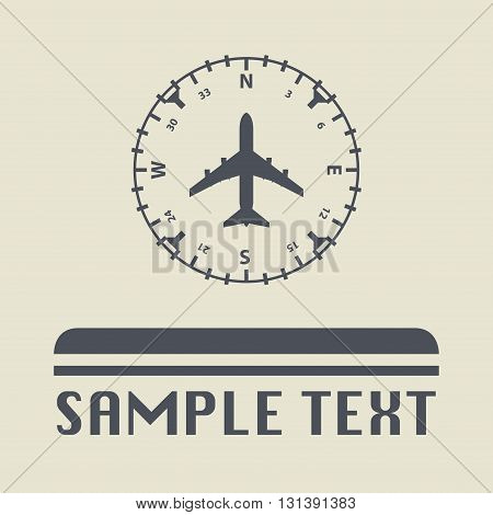 Airplane instruments icon or sign, vector illustration