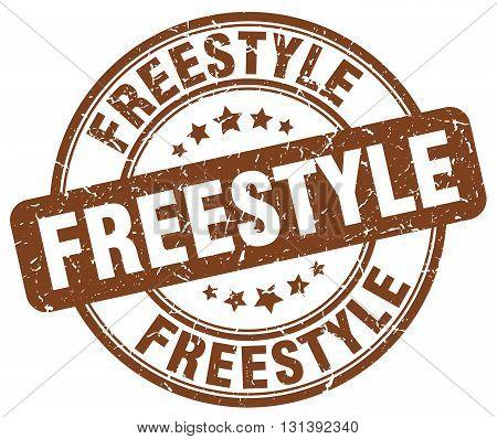freestyle brown grunge round vintage rubber stamp.freestyle stamp.freestyle round stamp.freestyle grunge stamp.freestyle.freestyle vintage stamp.
