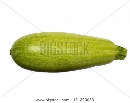 Squash (vegetable marrow) isolated on white background with clipping path. Closeup with no shadows. Vegetable. Food. Eating vegetarian. One vegetable marrow. Top view.