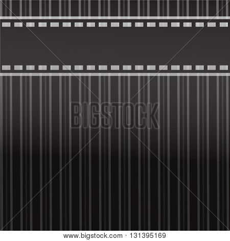 Film label on stripes black and white background