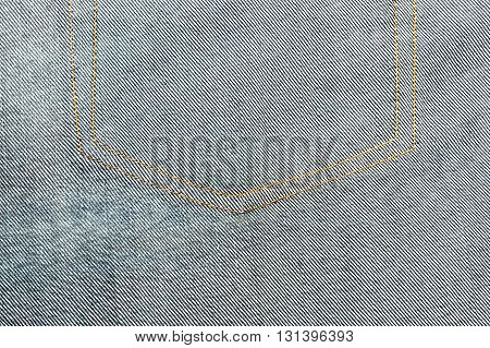 Denim texture, Close up texture of blue jean or denim fabric inside out can be used as background