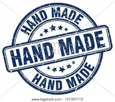 hand made blue grunge round vintage rubber stamp.hand made stamp.hand made round stamp.hand made grunge stamp.hand made.hand made vintage stamp.
