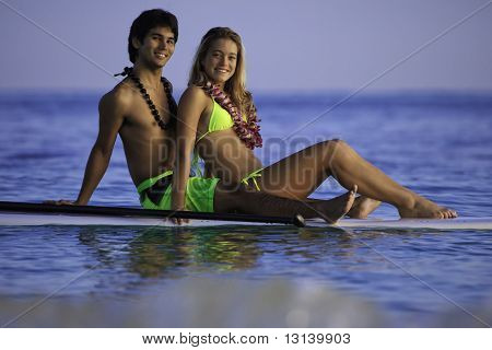 couple on a paddleboard