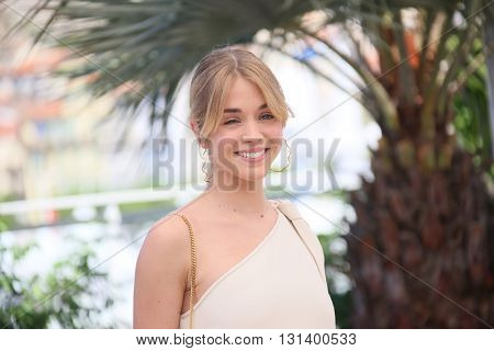 CANNES, FRANCE - MAY 21:  Alice Isaaz attends the 'Elle' Photocall during the 69th annual Cannes Film Festival at the Palais des Festivals on May 21, 2016 in Cannes, France.