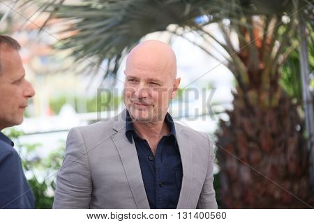 CANNES, FRANCE - MAY 21:  Christian Berkel attends the 'Elle' Photocall during the 69th annual Cannes Film Festival at the Palais des Festivals on May 21, 2016 in Cannes, France.