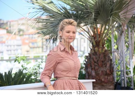CANNES, FRANCE - MAY 21:  Virginie Efira attends the 'Elle' Photocall during the 69th annual Cannes Film Festival at the Palais des Festivals on May 21, 2016 in Cannes, France.