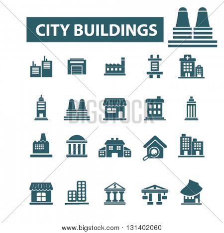 city buildings icons