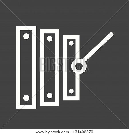 Music, wood, xylophone icon vector image.Can also be used for music. Suitable for mobile apps, web apps and print media.