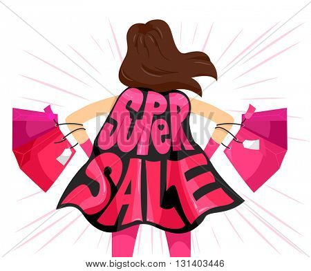 Typography Illustration Featuring the Phrase Super Sale
