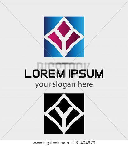 Letter Y logo symbol - vector icon
